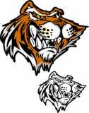 тигр талисмана логоса шаржа Стоковое Изображение RF