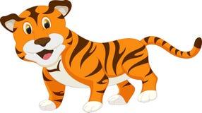 тигр шаржа милый Стоковое Изображение RF
