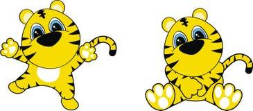 тигр шаржа младенца Стоковые Изображения RF