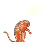 тигр шаржа с пузырем мысли Стоковые Фото