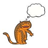 тигр шаржа с пузырем мысли Стоковое Изображение RF