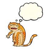 тигр шаржа с пузырем мысли Стоковое фото RF