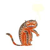 тигр шаржа с пузырем речи Стоковая Фотография RF