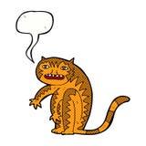 тигр шаржа с пузырем речи Стоковое Фото