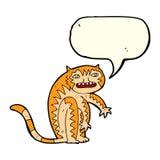 тигр шаржа с пузырем речи Стоковая Фотография