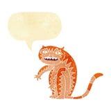 тигр шаржа с пузырем речи Стоковые Фотографии RF