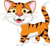 Тигр шаржа для вас дизайн Стоковые Изображения