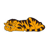тигр шуточного шаржа отдыхая Стоковое Изображение RF