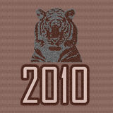 тигр 2010 Стоковая Фотография RF