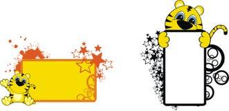 тигр copyspace шаржа Стоковая Фотография RF