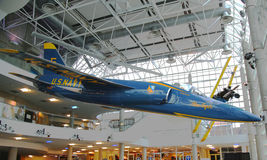 Тигр Grumman F-11 голубых ангелов на дисплее Стоковая Фотография