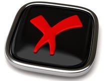 тикание знака иконы Стоковые Изображения RF