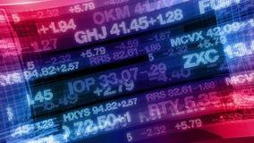 Тиккеры фондовой биржи - предпосылка отображения данных цифров видеоматериал