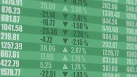 Тиккер фондовой биржи взгляд кредита конца карточки предпосылки финансовохозяйственный поднимающий вверх 4K иллюстрация штока