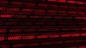 Тиккер фондовой биржи футуристический - Marcket закрыл - угол 1 - красные цифров бесплатная иллюстрация