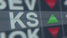 Тиккер фондовой биржи KAPSTONE PAPER&PACKAGING KS Редакционный перевод 3D бесплатная иллюстрация