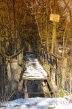 тимберс моста неполноценный старый стоковое изображение