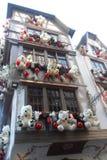Тимберс-обрамленный дом в страсбурге в Франции стоковые изображения