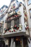 Тимберс-обрамленный дом в страсбурге в Франции Стоковые Фотографии RF