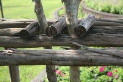 Тимберс текстурированный в саде Стоковая Фотография