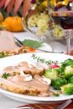 тимиан жаркого свинины чеснока Стоковые Фотографии RF