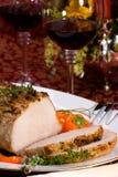 тимиан жаркого свинины чеснока Стоковая Фотография RF