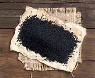 Тимон Nigella sativa или черный стоковое фото