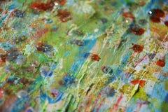 Тинная зеленая красная пастель пятнает абстрактную предпосылку Стоковые Фото