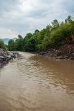 Тинное река на сезоне лета Стоковые Изображения