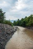 Тинное река на сезоне лета Стоковое фото RF
