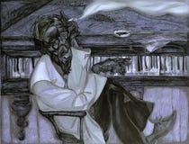 Тинные воды, картина маслом, художник римское Nogin, звуки ` серии джаза ` Стоковые Фотографии RF