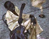 Тинные воды, картина маслом, художник римское Nogin, звуки ` серии джаза ` Стоковая Фотография