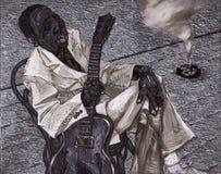 Тинные воды, картина маслом, художник римское Nogin, звуки ` серии джаза ` Стоковые Фото