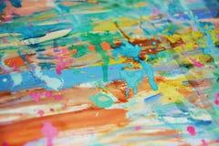 Тинные розовые пятна watercor радуги, творческий дизайн Стоковое Фото