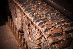 Тинный след гусеницы Стоковое Изображение RF