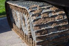 Тинный след гусеницы Стоковое Фото
