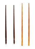 2 типа деревянных палочек Стоковая Фотография RF