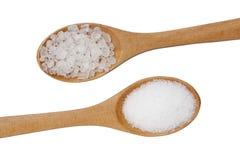 2 типа соли изолированного на белизне Стоковое Изображение