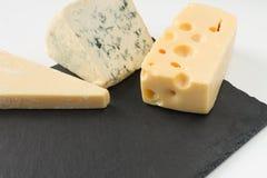 3 типа сыра стоковые фото
