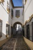 Типичная андалузская улица Стоковое Фото