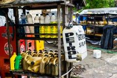 Типичная бензозаправочная колонка в северном Бали Стоковая Фотография
