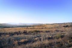 Типичная бревенчатая хижина в сельской местности Соединенных Штатах с сериями отрицательного космоса стоковая фотография rf