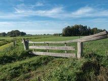 Типичная голландская загородка, человек сделала стоковая фотография rf