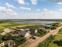 типичная деревня в центральной части России стоковые изображения