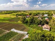 типичная деревня в центральной части России стоковое изображение