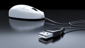 Типичная мышь компьютера Стоковые Изображения RF