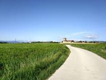 Типичная сельская местность от глубокой Каталонии стоковое фото rf