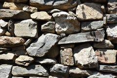 Типичная среднеземноморская текстура каменной стены Стоковое Фото