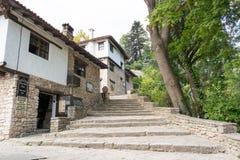 Типичная старая болгарская архитектура, Balchik Стоковое Изображение