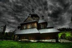 Типичная старая деревянная церковь Стоковые Фото